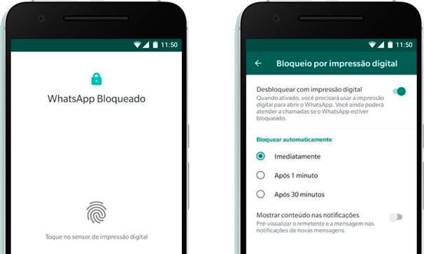 WhatsApp apresenta sistema de bloqueio por impressão digital no Android 2