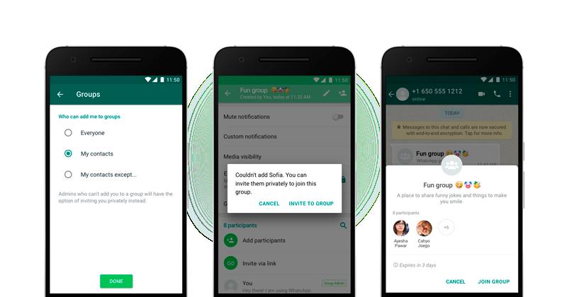 WhatsApp lança novas configurações de privacidade para grupos 2